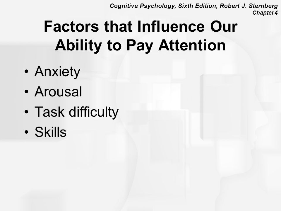 Factors that Influence Our Ability to Pay Attention