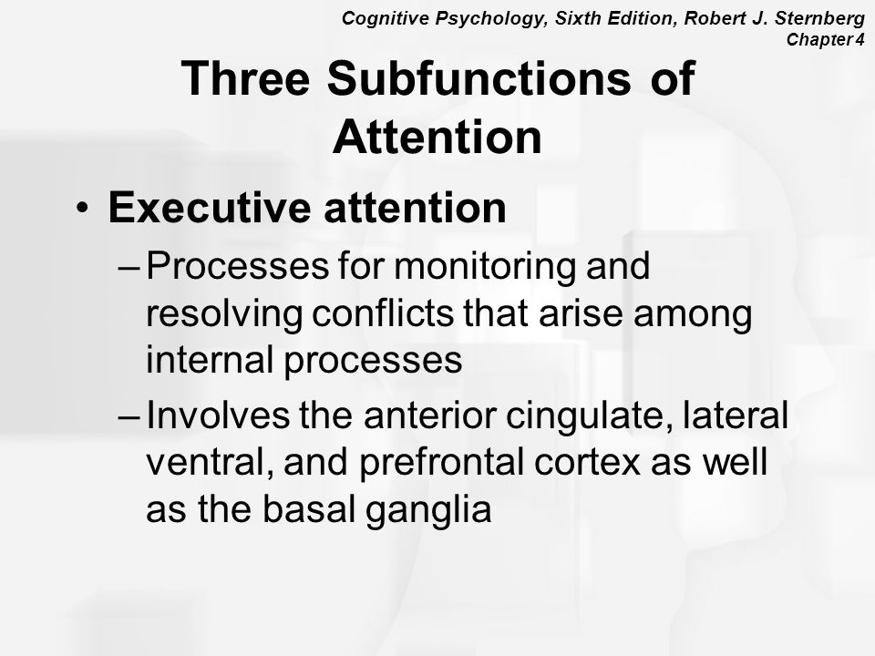 Three Subfunctions of Attention