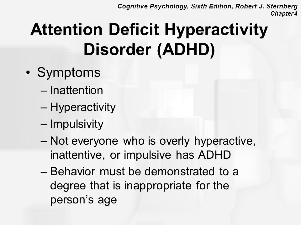 an introduction to the attention deficit disorder add in children This brochure focuses on basic information about adhd in both children and attention in tasks or play adults with attention deficit/hyperactivity disorder.