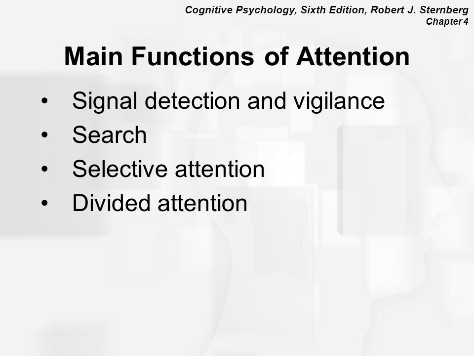 Main Functions of Attention