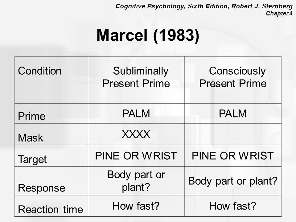 Marcel (1983) Condition Subliminally Present Prime