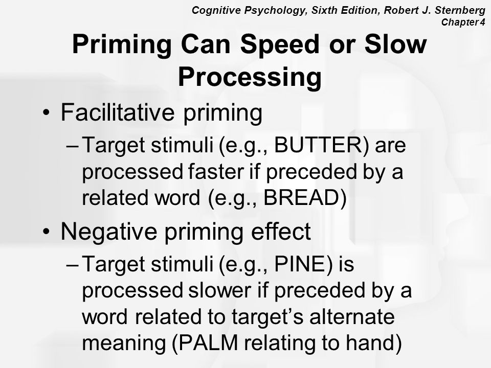 Priming Can Speed or Slow Processing