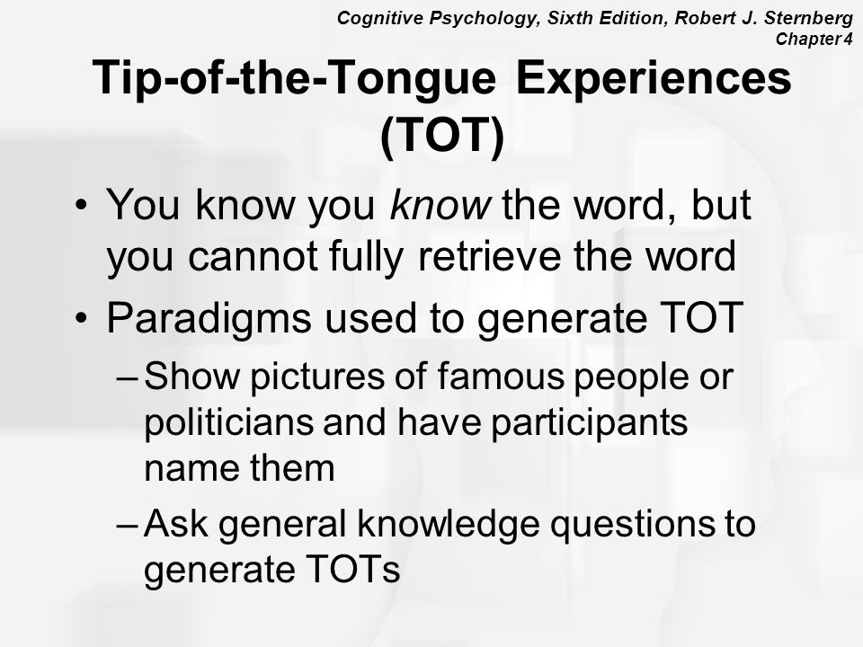 Tip-of-the-Tongue Experiences (TOT)