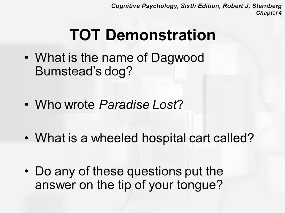 TOT Demonstration What is the name of Dagwood Bumstead's dog