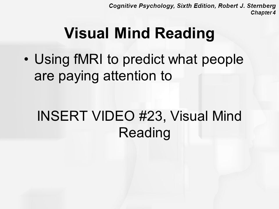 INSERT VIDEO #23, Visual Mind Reading