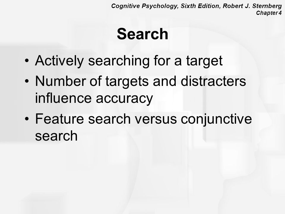 Search Actively searching for a target