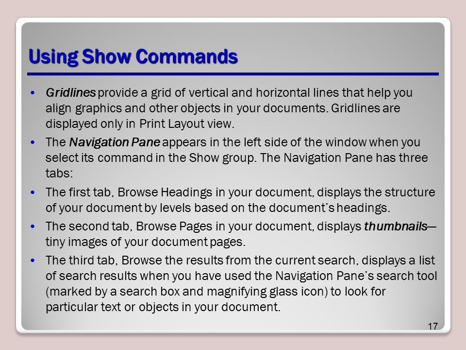 Using Show Commands