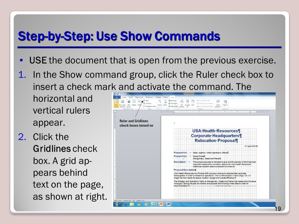 Step-by-Step: Use Show Commands