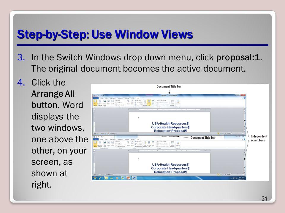 Step-by-Step: Use Window Views