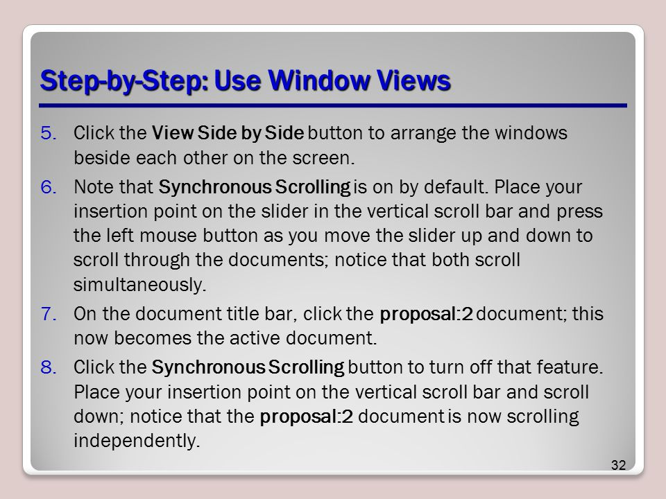 Step-by-Step: Use Window Views