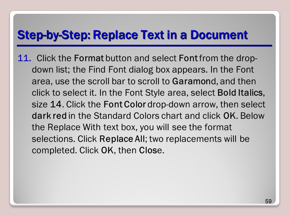 Step-by-Step: Replace Text in a Document