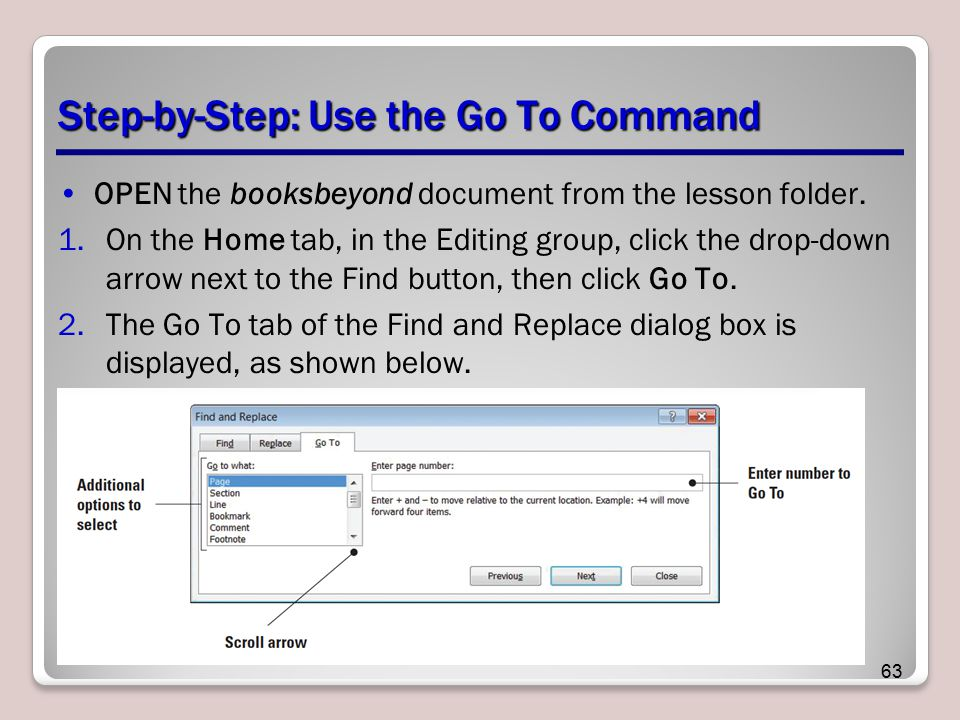 Step-by-Step: Use the Go To Command