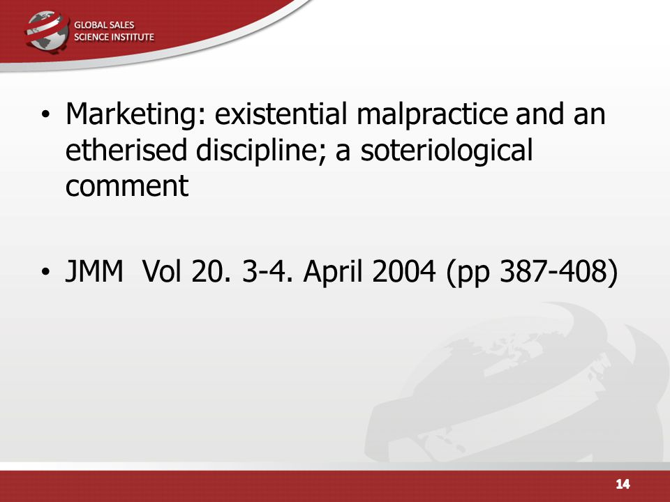 Marketing: existential malpractice and an etherised discipline; a soteriological comment