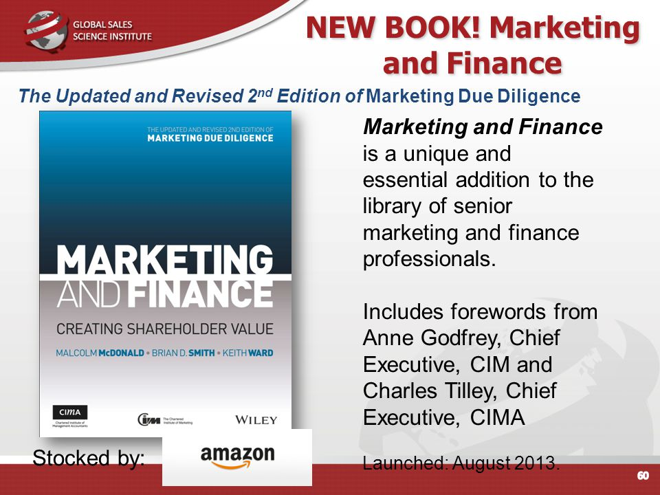 NEW BOOK! Marketing and Finance