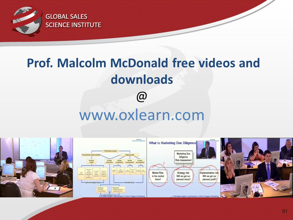 Prof. Malcolm McDonald free videos and downloads @ www.oxlearn.com