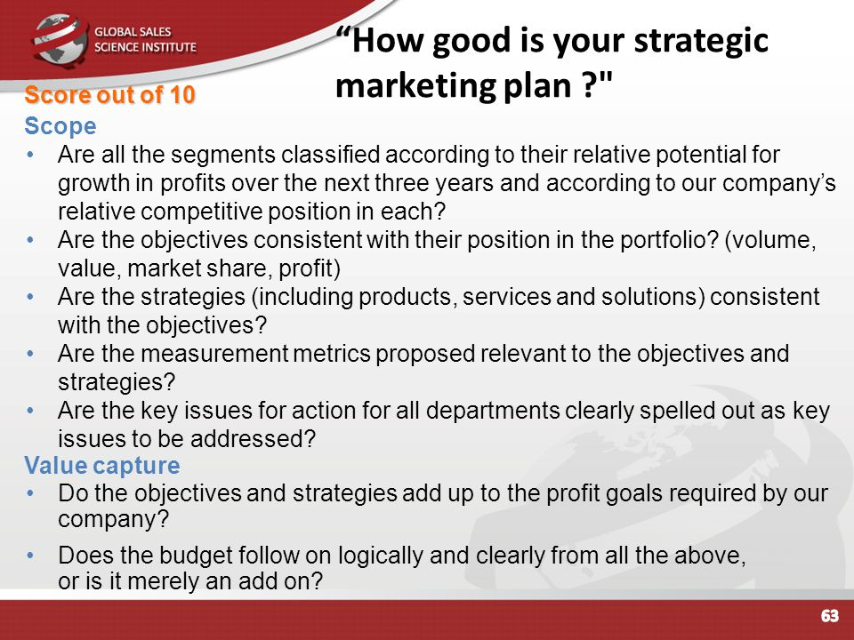 How good is your strategic marketing plan