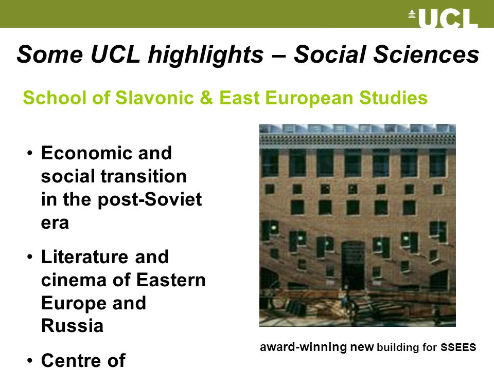 Some UCL highlights – Social Sciences