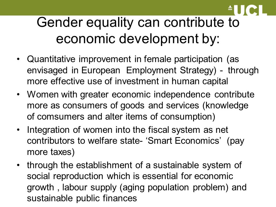 Gender equality can contribute to economic development by:
