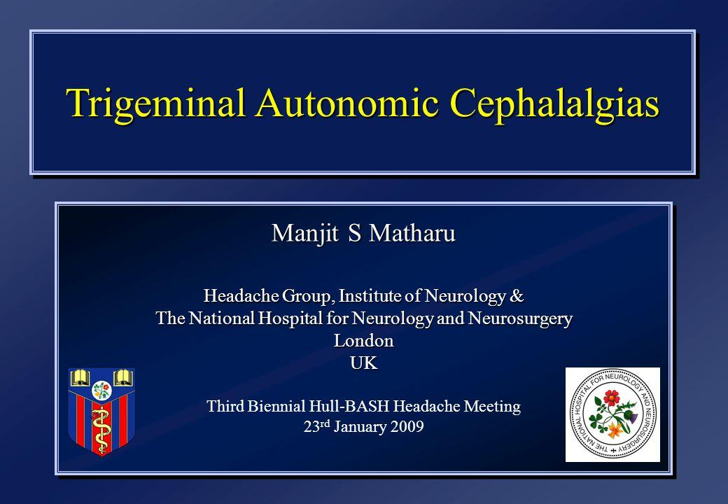 Trigeminal Autonomic Cephalalgias