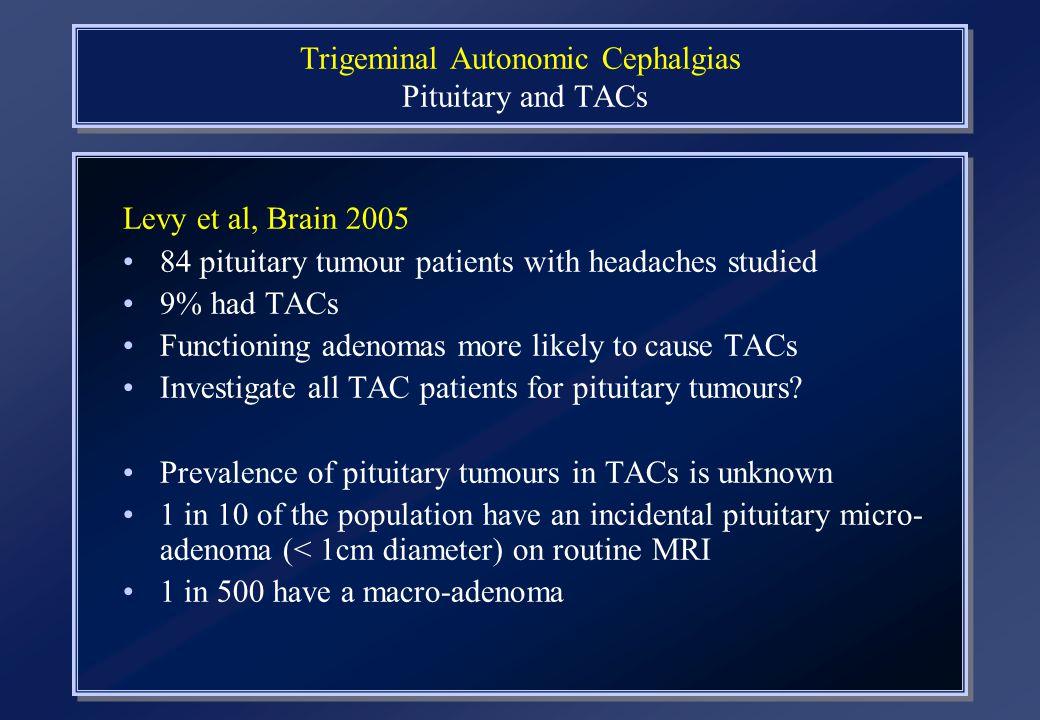 Trigeminal Autonomic Cephalgias Pituitary and TACs