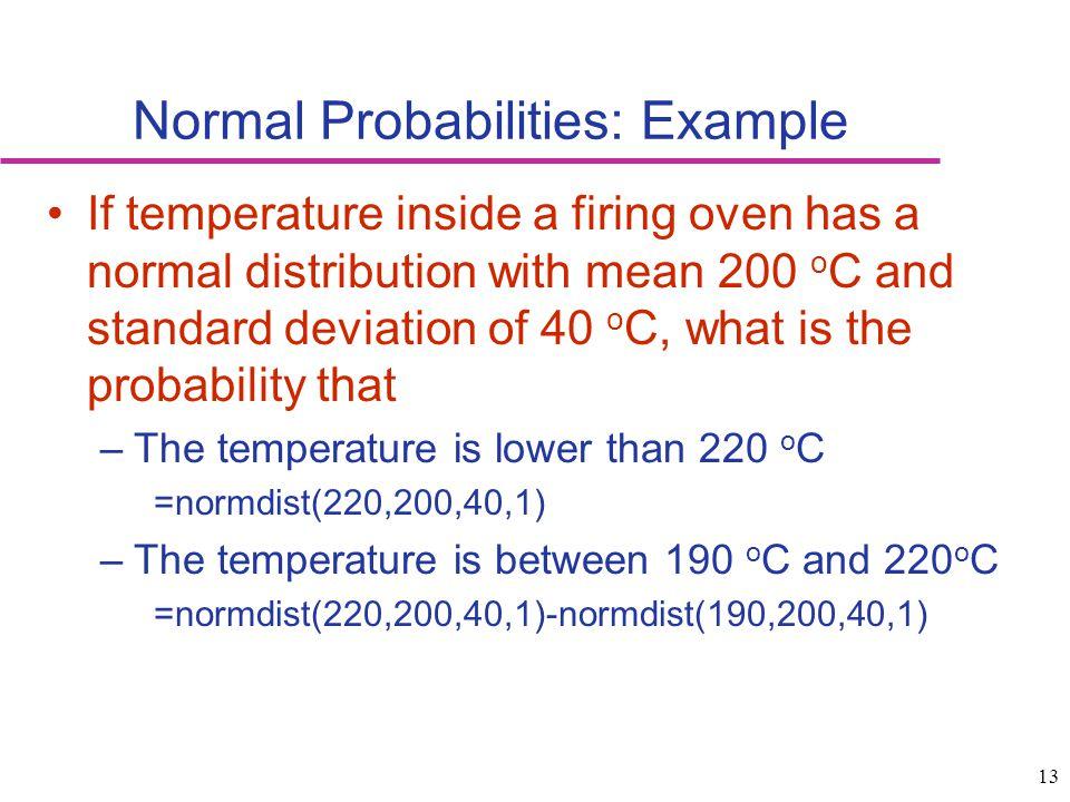 Normal Probabilities: Example