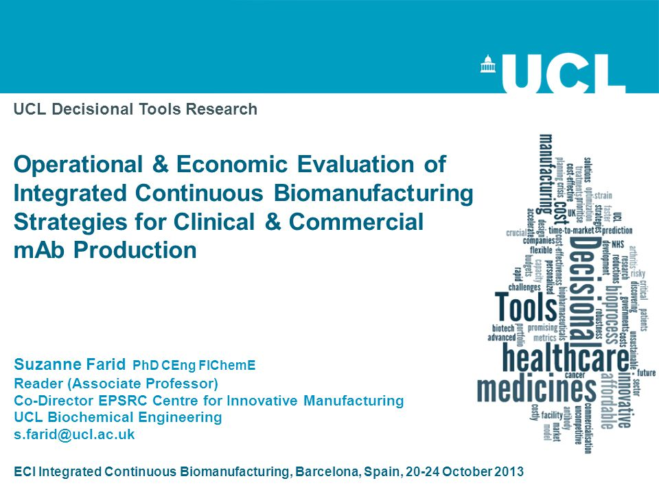UCL Decisional Tools Research