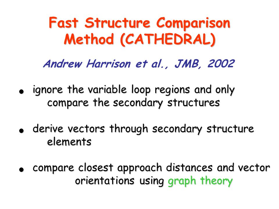 Fast Structure Comparison Method (CATHEDRAL)