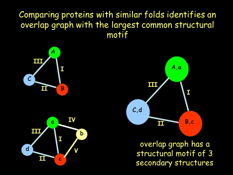 overlap graph has a structural motif of 3 secondary structures