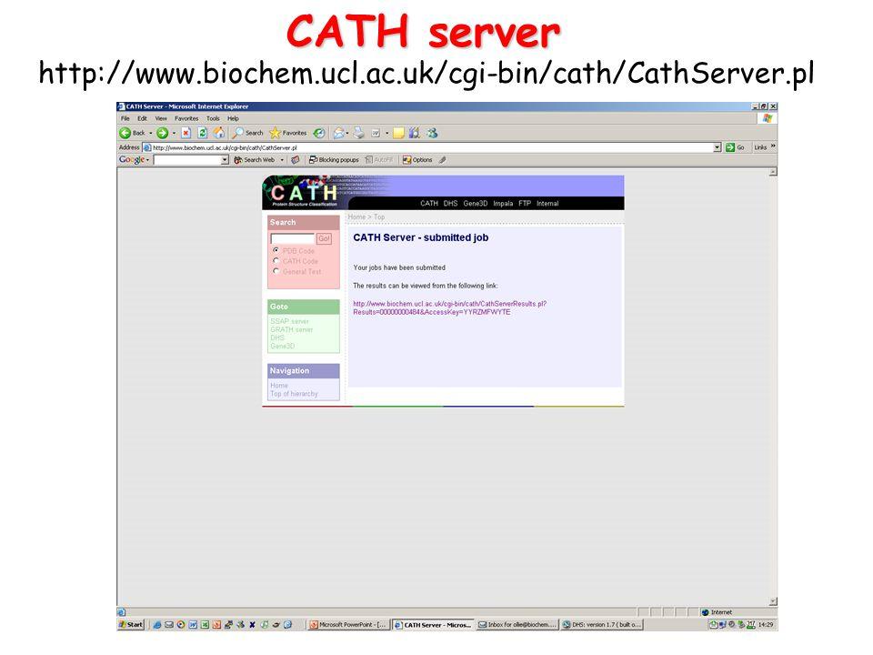 CATH server http://www.biochem.ucl.ac.uk/cgi-bin/cath/CathServer.pl