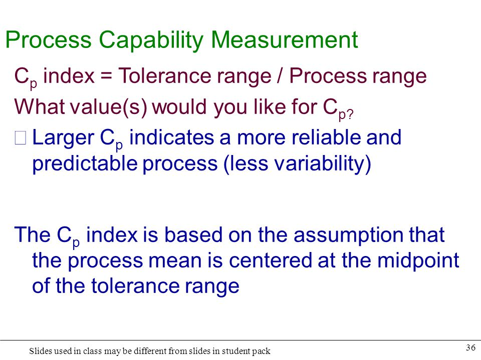 Process Capability Measurement