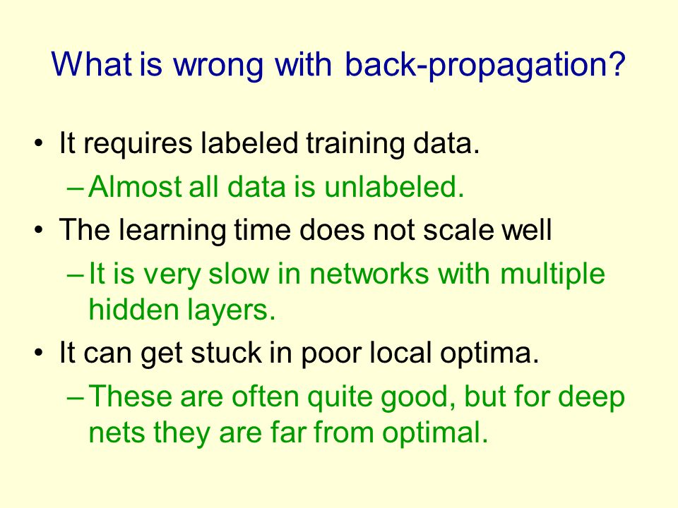 What is wrong with back-propagation