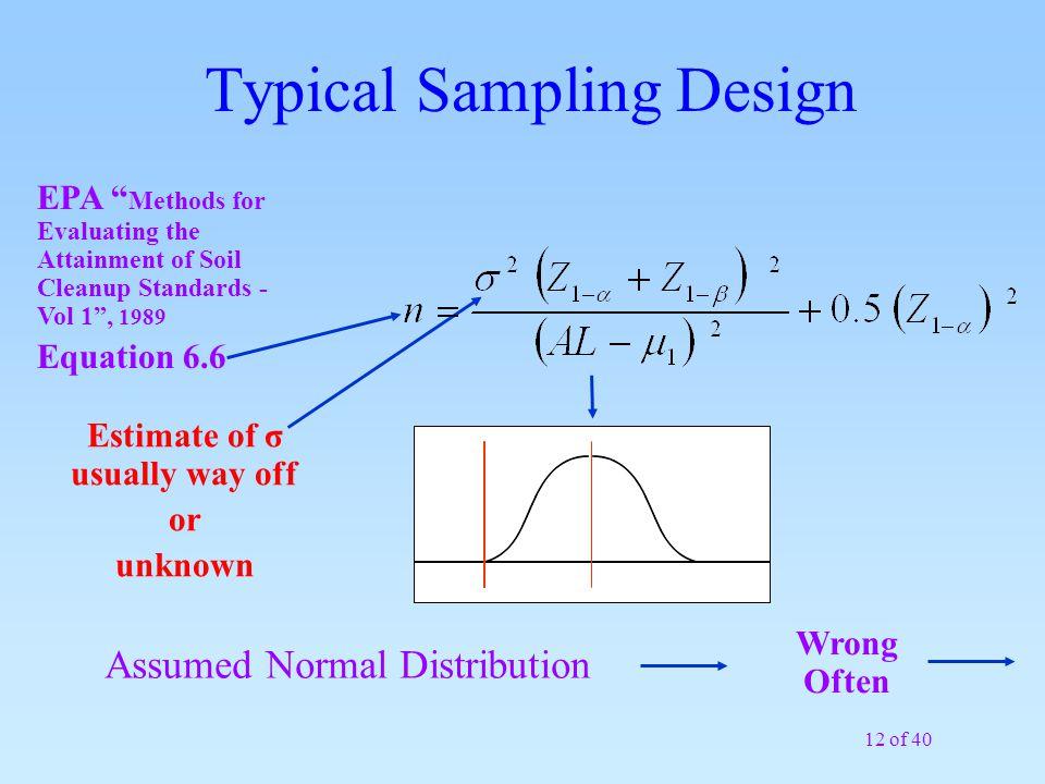 Typical Sampling Design