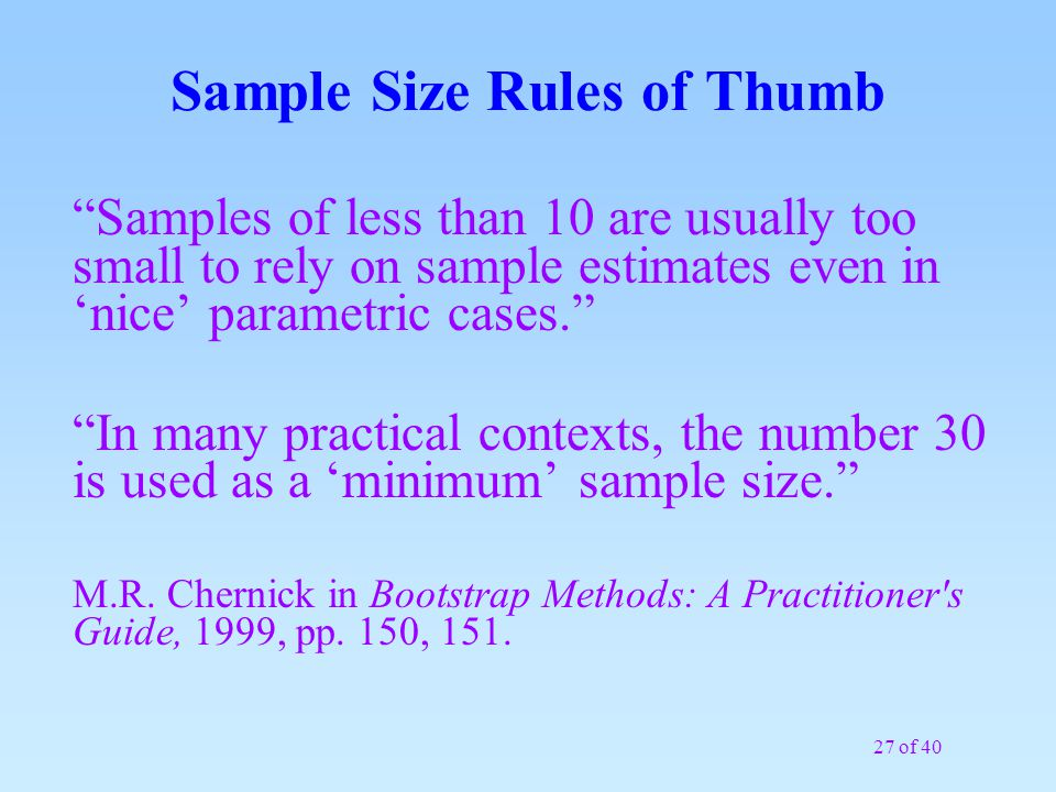 How Many Samples do I Need? Part 2 - ppt download