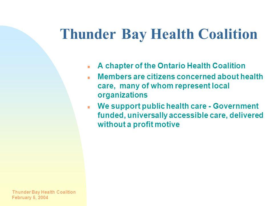 Thunder Bay Health Coalition