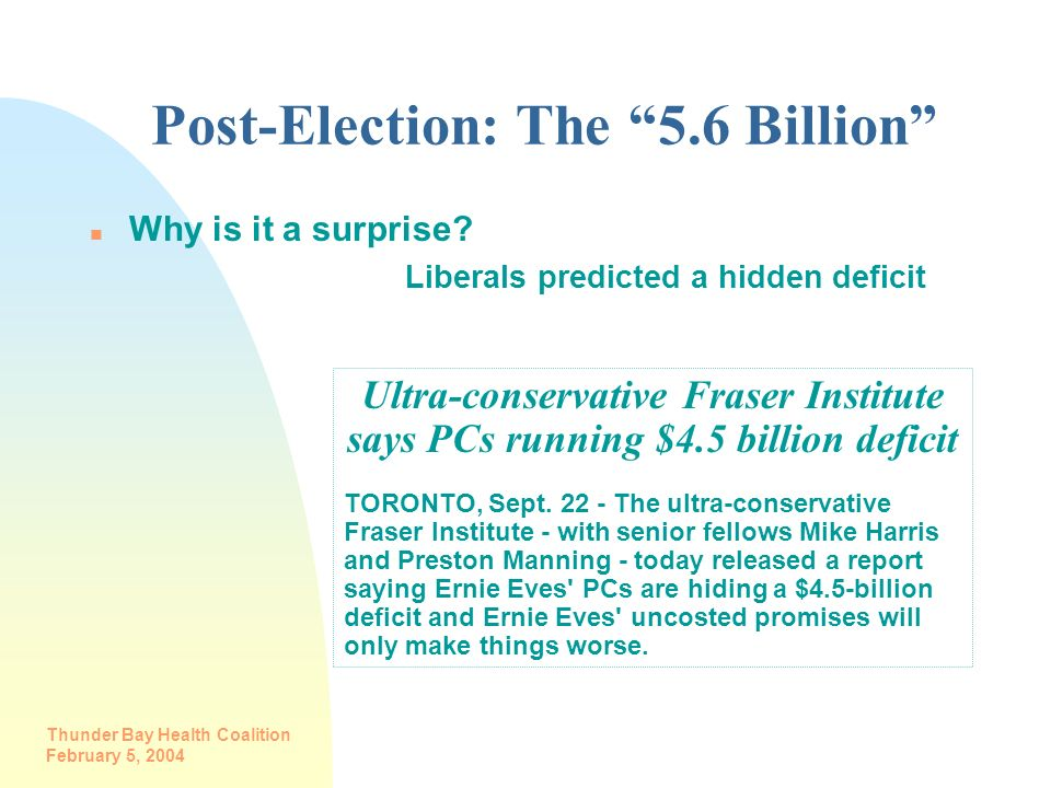 Post-Election: The 5.6 Billion