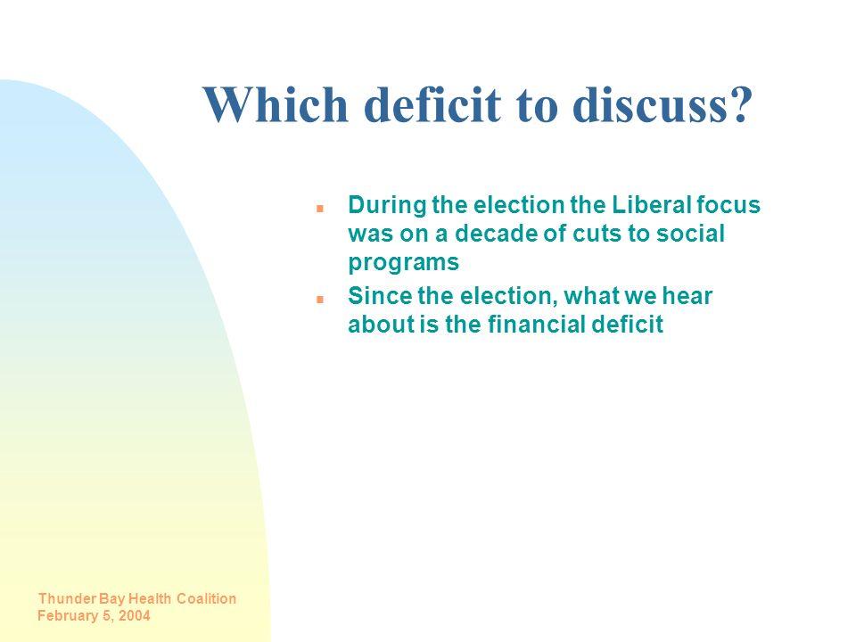 Which deficit to discuss