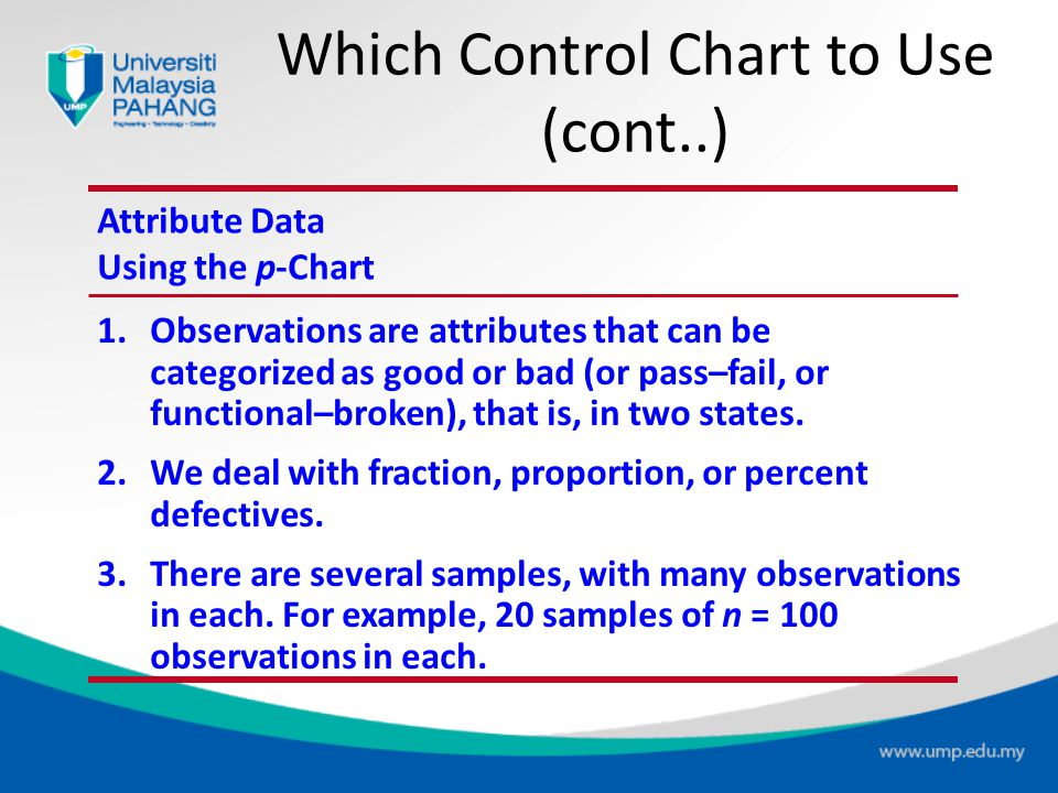 Which Control Chart to Use (cont..)