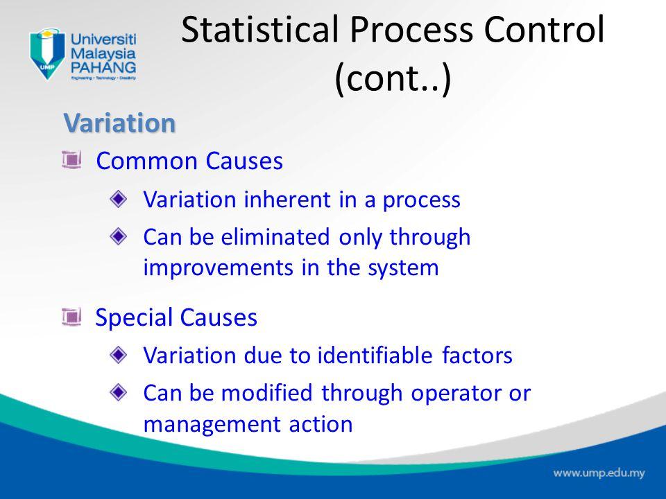 Statistical Process Control (cont..)