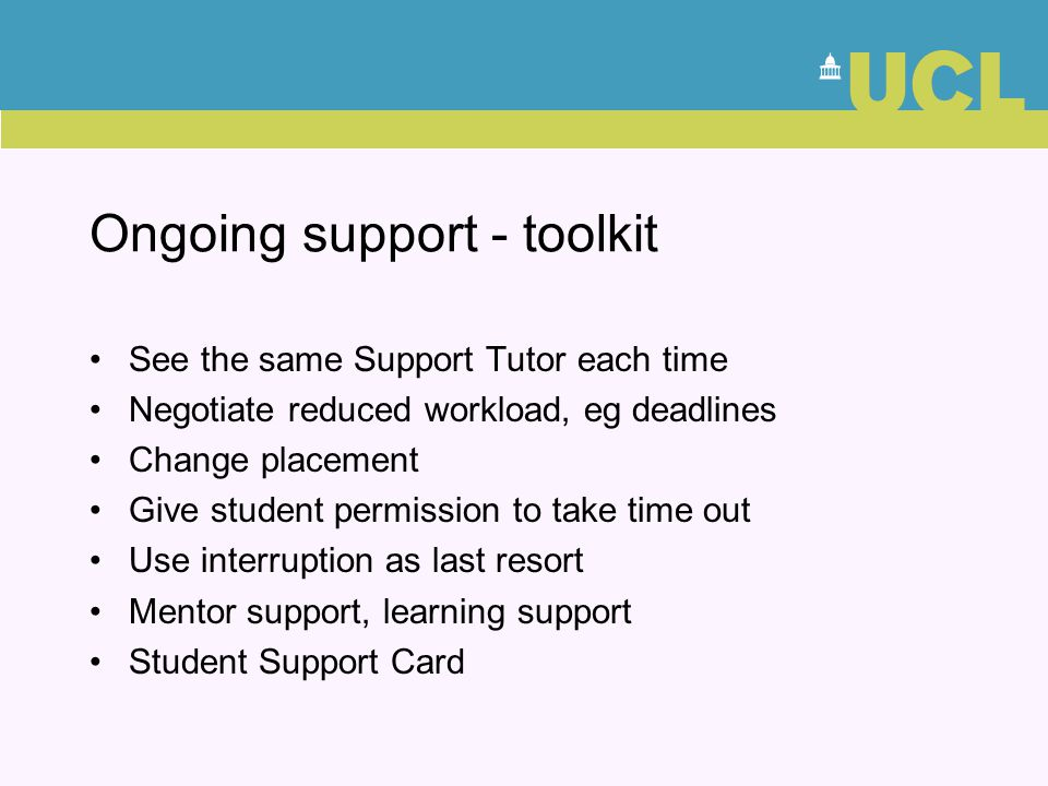 Ongoing support - toolkit