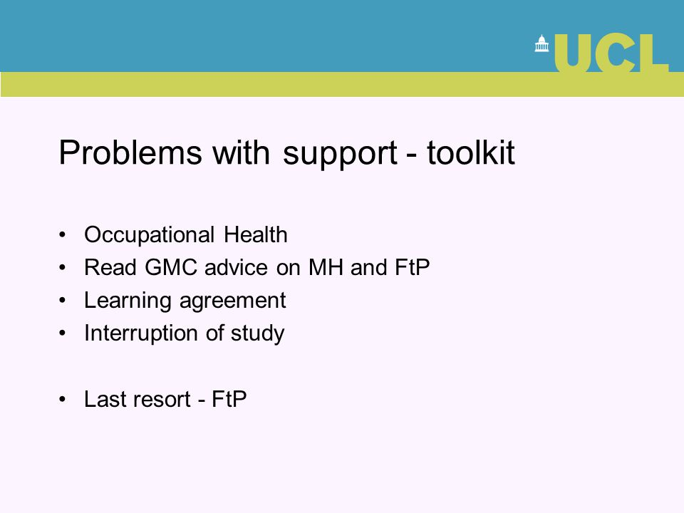 Problems with support - toolkit