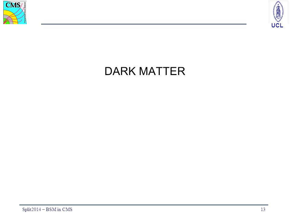 DARK MATTER Split2014 – BSM in CMS