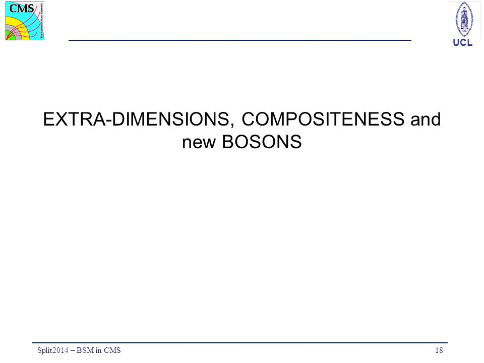EXTRA-DIMENSIONS, COMPOSITENESS and new BOSONS