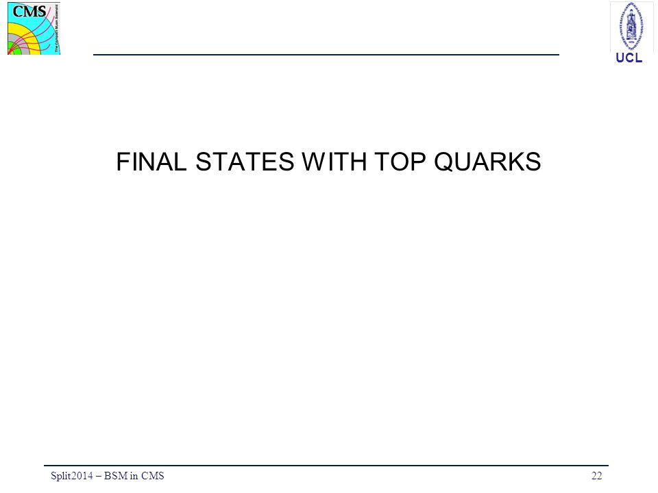 FINAL STATES WITH TOP QUARKS