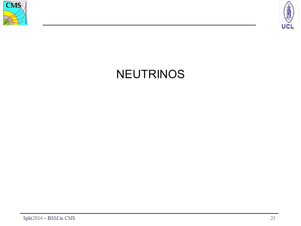 NEUTRINOS Split2014 – BSM in CMS