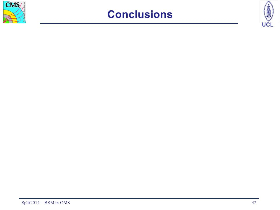 Conclusions Split2014 – BSM in CMS