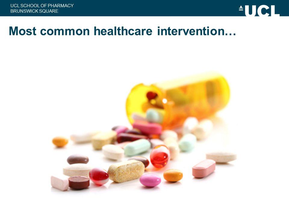 Most common healthcare intervention…