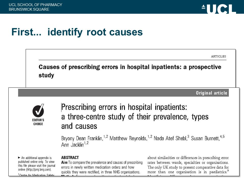 First... identify root causes