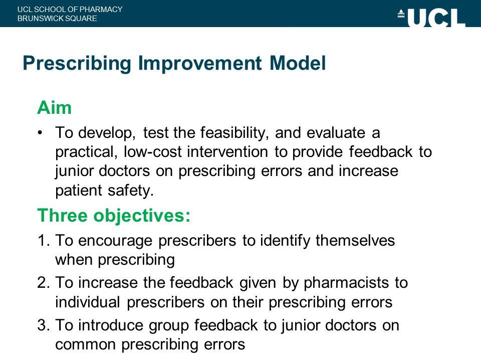 Prescribing Improvement Model