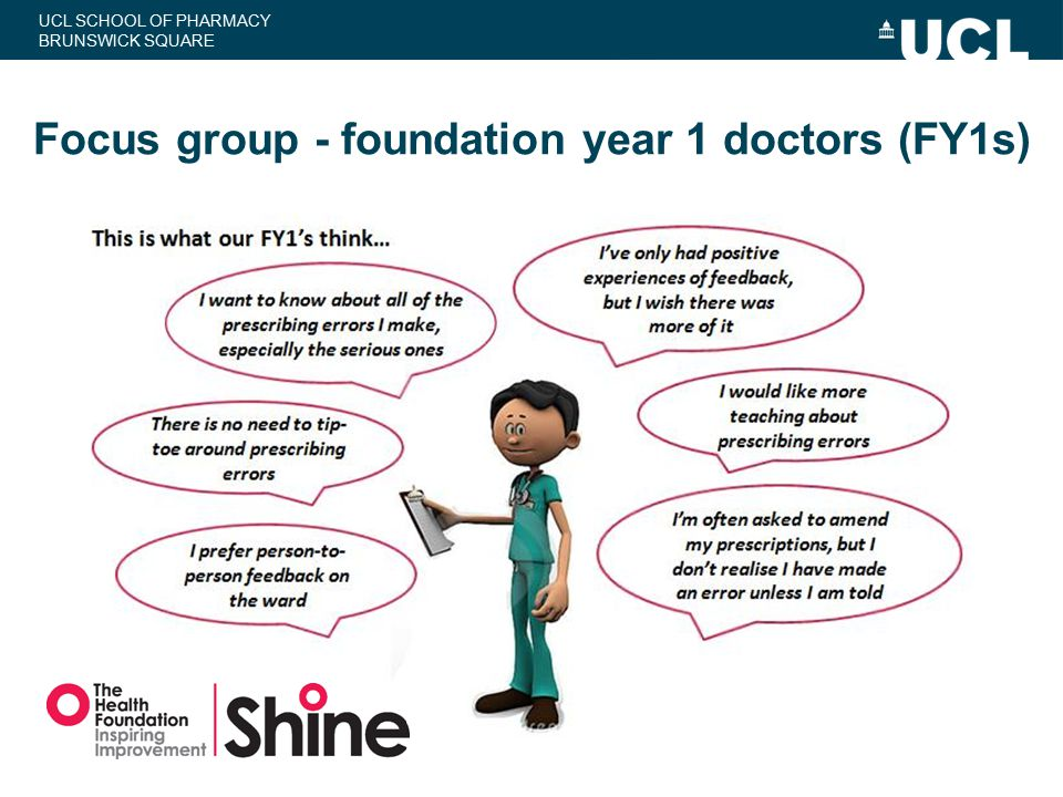 Focus group - foundation year 1 doctors (FY1s)