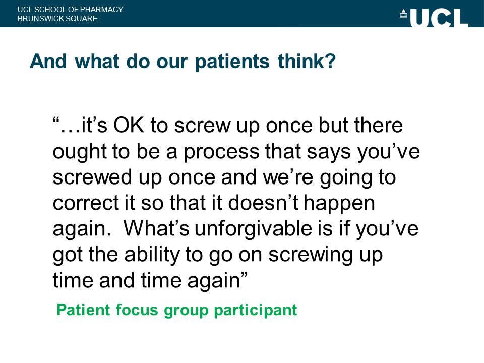 And what do our patients think